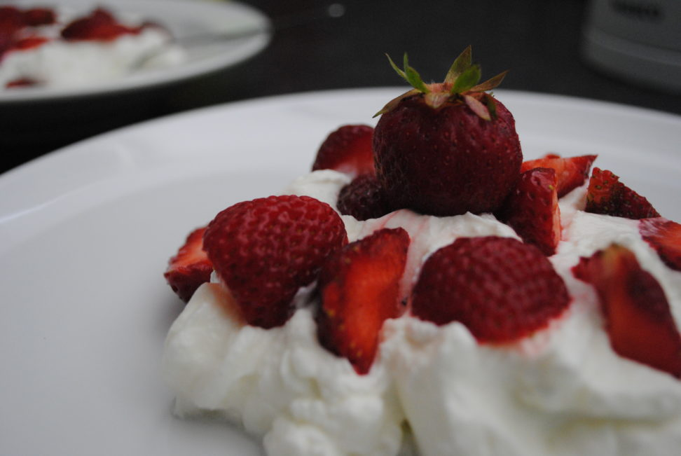 Frisk jordbær morgenmad