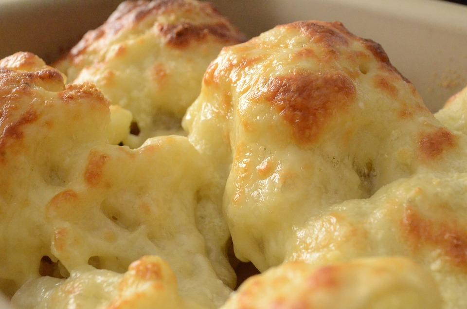 Bagt blomkål med ost